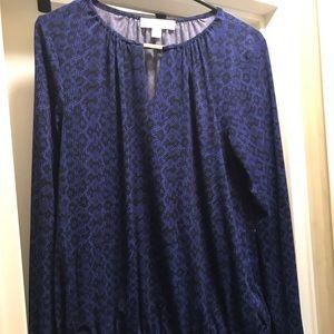 Michael Kors long sleeve blue top